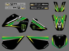 Kit déco Monster Pro-Circuit Kawasaki 80 KX de 1994-1997